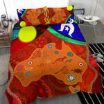 1stAustralia Bedding Set - Australia Map Aboriginal Patterns - BN17