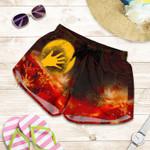 1stAustralia Aboriginal Women's Shorts - Indigenous Flag Hand Art