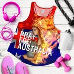 1stAustralia Women's Racerback Tank - Pray for Australia Tank Top - Unisex