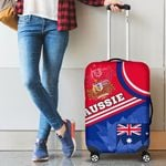 1stAustralia Luggage Covers - Aus Flag and Coat of Arms Suitcase Waratah Flowers