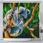 1stAustralia Shower Curtain - 3D Koala Curtain - Koala Aussie Greeting