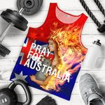 1stAustralia Men's Tank Top - Pray for Australia Mens Tank - Unisex