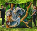 1stAustralia Premium Quilt - 3D Koala Quilt - Koala Aussie Greeting