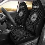 American Samoa Personalised Car Seat Covers - Seal In Polynesian Tatoo Style ( Black)