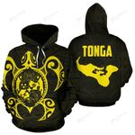 Tonga Polynesian Hoodie - Tonga Coat Of Arms In Turtle Map TH5 1ST