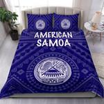 American Samoa Bedding Set - Seal In Polynesian Tattoo Style ( Blue) -BN25