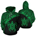 American Samoa Hoodie - American Samoa Seal In Turtle Polynesian Tattoo Green Th5 1ST