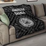 American Samoa Premium Quilt - Seal In Polynesian Tattoo Style ( Black) -BN25