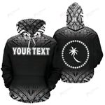Chuuk All Over Custom Personalised Hoodie - Micronesian Black Fog - BN09