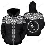 Chuuk All Over Zip-Up Hoodie - Neck Style - BN04