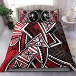 Chuuk Bedding Set  - Tribal Flower Special Pattern Red Color - BN20