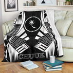 Chuuk States Premium Blanket - Black Tattoo Style - BN01