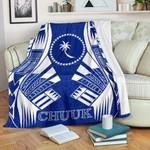 Chuuk States Premium Blanket - Blue Tattoo Style - BN01