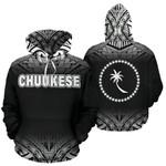 Chuukese All Over Hoodie - Black Fog Style - BN09