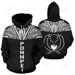 Pohnpei All Over Hoodie - Neck Style