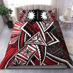 Nauru Bedding Set  - Tribal Flower Special Pattern Red Color - BN20