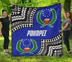 Pohnpei Premium Quilt - Pohnpei Flag Micronesian Pattern - BN09