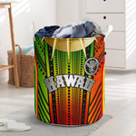 Hawaii Polynesian Laundry Basket - Tribal Ornamental