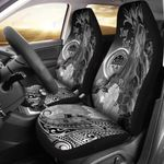 Federated States of Micronesia Custom Personalised Car Seat - Humpback Whale with Tropical Flowers (White)