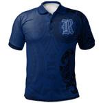Rice Owls Football Polo Shirt -  Polynesian Tatto Circle Crest - NCAA