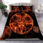 Satanic On Fire Bedding Set
