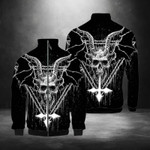 Evil Skull Satanic Stand Collar Jacket