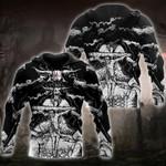 Skull Satanic And Cross Hoodie