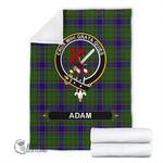Adam Crest Tartan Blanket | Tartan Home Decor | Scottish Clan