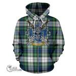 Gordon Dress Ancient Tartan Hoodie Celtic Scottish Warrior (Zip) A79