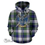 Gordon Dress Modern Tartan Hoodie Celtic Scottish Warrior (Zip) A79