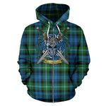 Lyon Clan Tartan Hoodie Celtic Scottish Warrior (Zip) A79