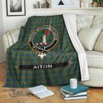 1stScotland Premium Blanket - Aiton Tartan Crest Blanket A7