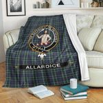 1stScotland Premium Blanket - Allardice Tartan Crest Blanket A7