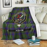 1stScotland Premium Blanket - Adam Tartan Crest Blanket A7