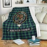 1stScotland Premium Blanket - Abercrombie (or Abercromby) Tartan Crest Blanket A7
