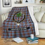 1stScotland Premium Blanket - Anderson Tartan Crest Blanket A7