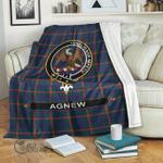 1stScotland Premium Blanket - Agnew Tartan Crest Blanket A7