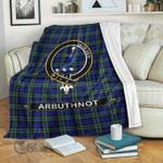 1stScotland Premium Blanket - Arbuthnot Tartan Crest Blanket A7