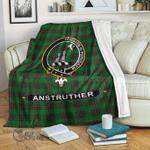 1stScotland Premium Blanket - Anstruther Tartan Crest Blanket A7