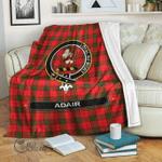 1stScotland Premium Blanket - Adair Tartan Crest Blanket A7