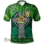 1stScotland Ireland St. Patrick's Day Polo Shirt - House of MACCOSTELLO Irish Shamrock with Claddagh Ring Cross A7