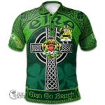 1stScotland Ireland St. Patrick's Day Polo Shirt - McFall Irish Shamrock with Claddagh Ring Cross A7