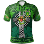 1stScotland Ireland St. Patrick's Day Polo Shirt - House of O'MORE Irish Shamrock with Claddagh Ring Cross A7