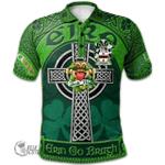 1stScotland Ireland St. Patrick's Day Polo Shirt - Coonan or O'Conan Irish Shamrock with Claddagh Ring Cross A7