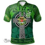 1stScotland Ireland St. Patrick's Day Polo Shirt - Weld Irish Shamrock with Claddagh Ring Cross A7