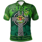 1stScotland Ireland St. Patrick's Day Polo Shirt - Bury or Berry Irish Shamrock with Claddagh Ring Cross A7