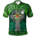1stScotland Ireland St. Patrick's Day Polo Shirt - Meares Irish Shamrock with Claddagh Ring Cross A7