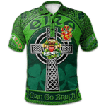1stScotland Ireland St. Patrick's Day Polo Shirt - McGillicuddy Irish Shamrock with Claddagh Ring Cross A7