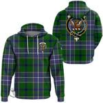 1stScotland Hoodie - Wishart Hunting Modern Clan Tartan Crest Hoodie A7