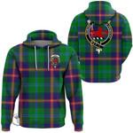 1stScotland Hoodie - Young Modern Clan Tartan Crest Hoodie A7